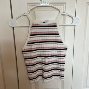 Small Divided H&M Black Pink White Tank Top